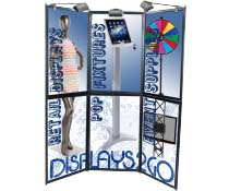6 Panel Trade Show Display with Halogen Lights and Custom Artwork