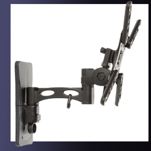 Articulating wall mounted TV bracket