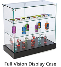 full vision frameless display case