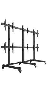 6 Panel LCD Video Wall Cart