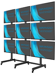 Monitor rack for 9 plasma screens