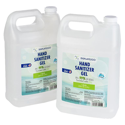 Hand sanitizing gel in bulk gallons