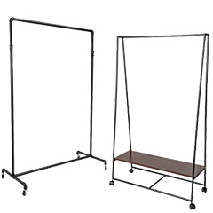 Metal garment racks for clothing and accessories