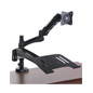 Desk Mount Dual Monitor Arm with USB Hub