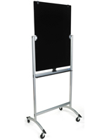 Rolling Magnetic Glass Dry Erase Easel for Schools