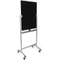 Reversible Rolling Magnetic Glass Dry Erase Easel