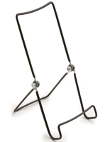 Wire Easel For Tabletop With 1.25 Inch Lip, 3.75 X 7.5   Black