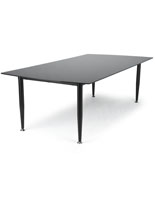 Black Glass Top Dry Erase Table with Painted Base