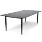 Black Glass Top Dry Erase Table with Straight Legs