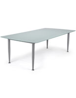 Frosted Glass Dry Erase Table with Straight Frame