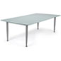 Frosted Glass Dry Erase Table with Painted Base