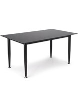 Black Glass Whiteboard Desk with Painted Legs