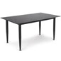 Black Glass Whiteboard Desk with Rectangle Top
