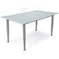 Frosted Glass Whiteboard Desk with Straight Base