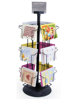 Greeting card display stands floor standing countertop racks horizontal card placement countertop m4hsunfo