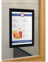 8.5 x 11 Peel and Stick Sign Holder with Black Frame