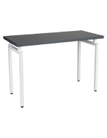 Gray top nestable retail display table