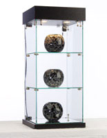 Buy this glass cabinet with lights for your retail store.