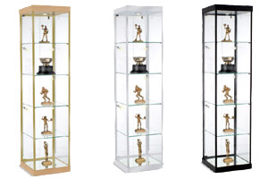 Glass Showcases Countertop Floor Standing Tower Style Displays