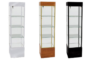"73""H Contemporary Square Show Cases"