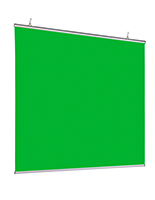Hanging green screen backdrop made of tear-resistant polyester material
