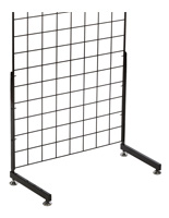 "Black ""L"" Shaped Gridwall Base, 12"" in Depth"