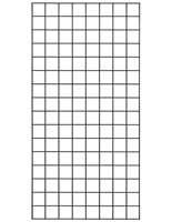 2' x 4' Black Wire Grid Panel with Glossy Finish