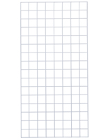 2' x  4' White Wire Grid Panel with Glossy Finish