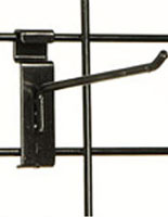 "Metal 6"" Black Gridwall Hook"