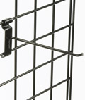 "8"" Black Gridwall Hook for Convenience Stores"