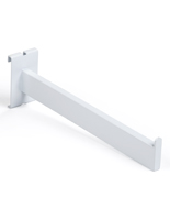 "Set of 4 white 12"" square tube gridwall faceout arm"