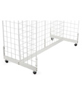 "White Metal Gridwall Base, 48"" Wide"
