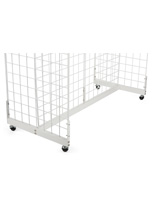 White Metal Gridwall Base with 4 Metal Casters