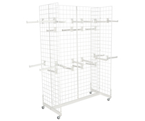 "White Gridwall ""H"" Stand w/ 25 Faceouts for Hangers"