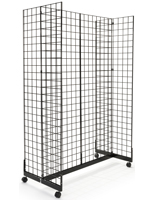 Mobile Black Gridwall H-Unit Gondola