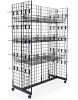 Metal Black Gridwall Gondola Display System