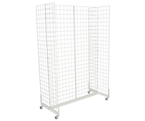 "White Gridwall ""H"" Stand, Metal Wire"