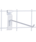 "10"" White Gridwall Hook for Convenience Stores"