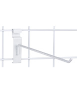 "12"" White Gridwall Hook for Retail Locations"