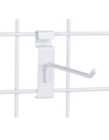 "6"" White Gridwall Hook for Product Organization"