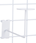 Sturdy White Gridwall Hat Rack