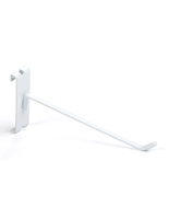 "Metal 8"" white wire grid panel display hook"