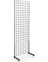 "Set of 2 Metal Black Gridwall ""L"" Stands"