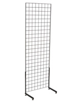 "Black Gridwall ""L"" Stand with 6' Wire Panels"