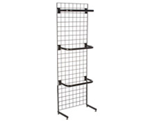 "Black Gridwall ""L"" Stand w/ 10 ""C"" Hangers, Hardware Included"