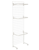 "White Gridwall ""L"" Stand w/ 10 ""C"" Hangers, 2 Sets Included"