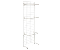 "White Gridwall ""L"" Stand w/ 10 ""C"" Hangers, Hardware Included"