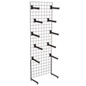 "Black Gridwall ""L"" Stand w/ 25 Faceouts, 24"" Panel Width"