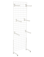 "White Gridwall ""L"" Stand w/ 25 Faceouts, 12"" Deep"