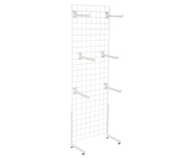 "White Gridwall ""L"" Stand w/ 25 Faceouts, Hardware Included"